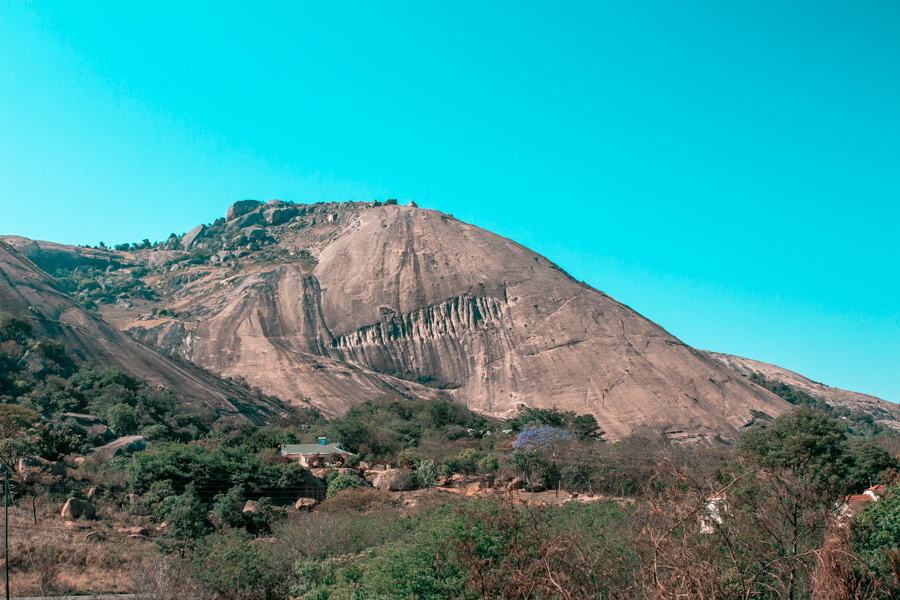 Sibebe Rock, the most important natural landmark of Swaziland