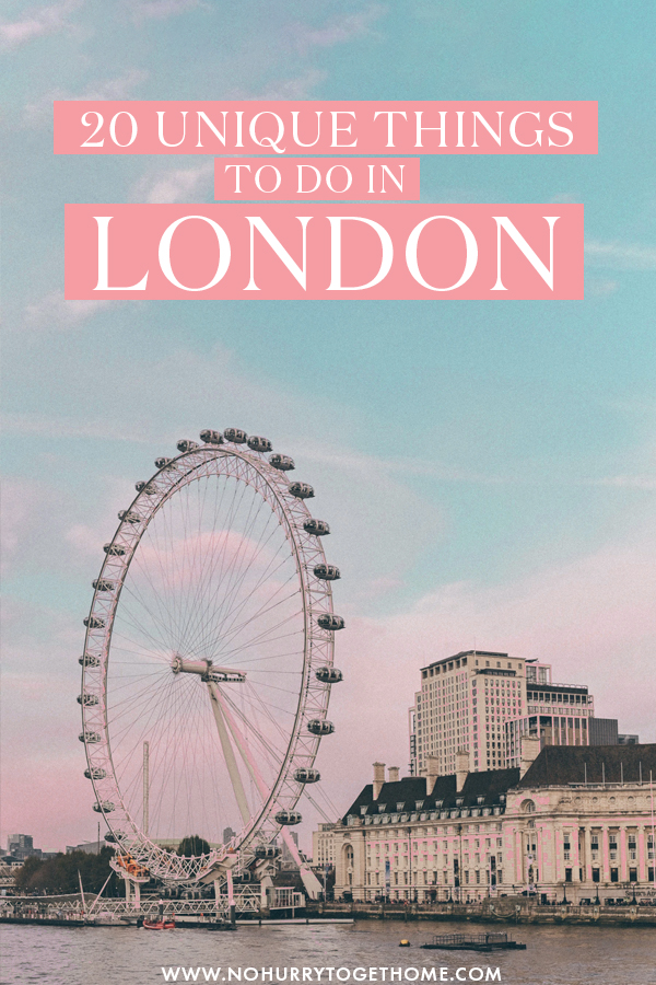 Wondering what to do in London? If you're into hidden gems, fun attractions, and Instagrammable spots away from the crowds, this guide to London is for you! From quirky things to do, to hidden gems and more, here are some of the most unique things to do in London that need to be in your itinerary! #London #England
