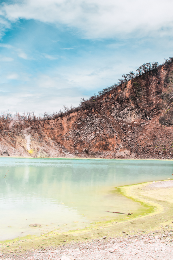 Visiting Kawah Putih, the White Crater, is one of the most exciting things to do in Bandung, Indonesia