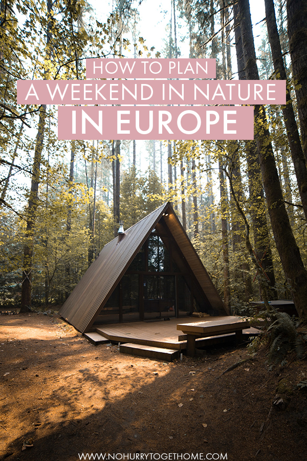 Wondering where to go for a romantic weekend in nature in Europe? If you're on the lookout for a perfect Europe getaway in countries like the Netherlands, Germany, England, or France, this is the ultimate guide to find the perfect place to stay in Europe in the middle of nature! #Europe