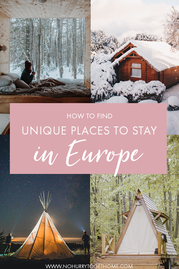 Wondering where to find unique accommodation in Europe? If you're on the lookout for a nature getaway in Europe, like in the Netherlands, Sweden, Germany, Spain or France, here's the ultimate resource to book a perfect nature getaway in Europe for friends or a romantic weekend! #Europe