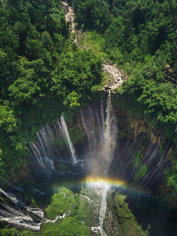 The most insane looking waterfall in Malang, Java, Indonesia - a must when backpacking Java!