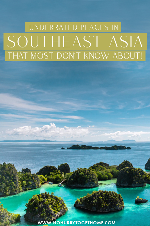 Want to travel Southeast Asia but don't want to deal with the crowds? There are so many amazing and underrated places in Southeast Asia that don't see that many tourists compared to their counterparts, so on this post, I share some of my favorite unknown destinations in Southeast Asia. #Asia