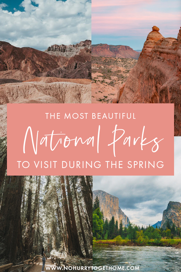 Answering the ultimate question: What are the best national parks to visit in Spring? If you're looking for amazing USA destinations to visit on a spring getaway, here are some of the must-visit national parks in Spring that you need to put in your USA itinerary!