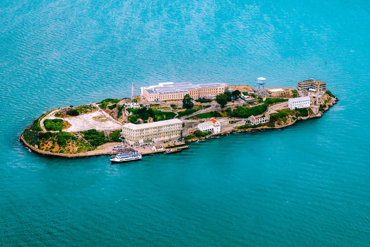 Alcatraz Island in California